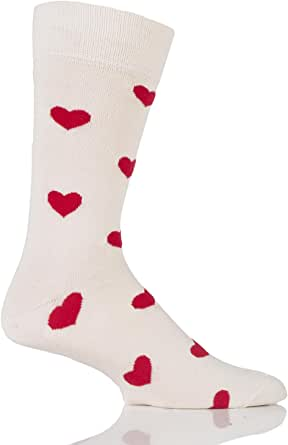Happy Socks Men's Heart Sock, Multicoloured, 36-41