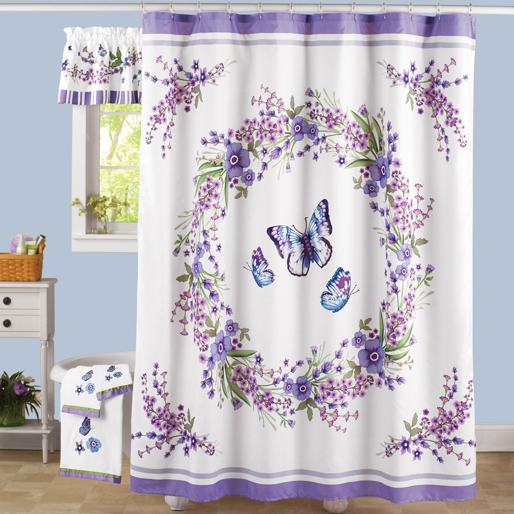 Amazon.com: Collections Etc Lavender Floral And Butterflies 72\