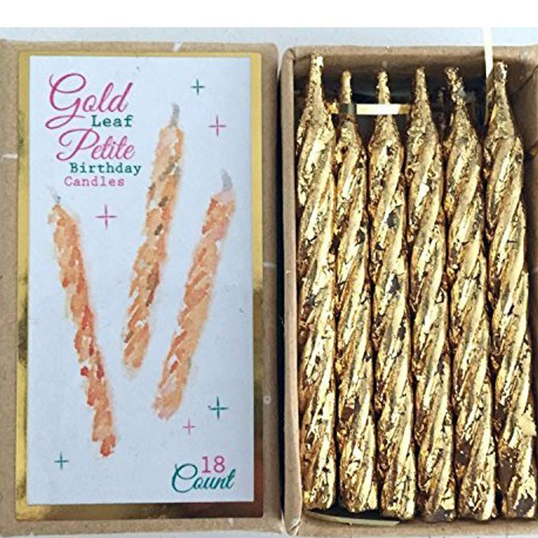 Amazon.com: One Hundred 80 grados Gold Leaf Petite Velas ...