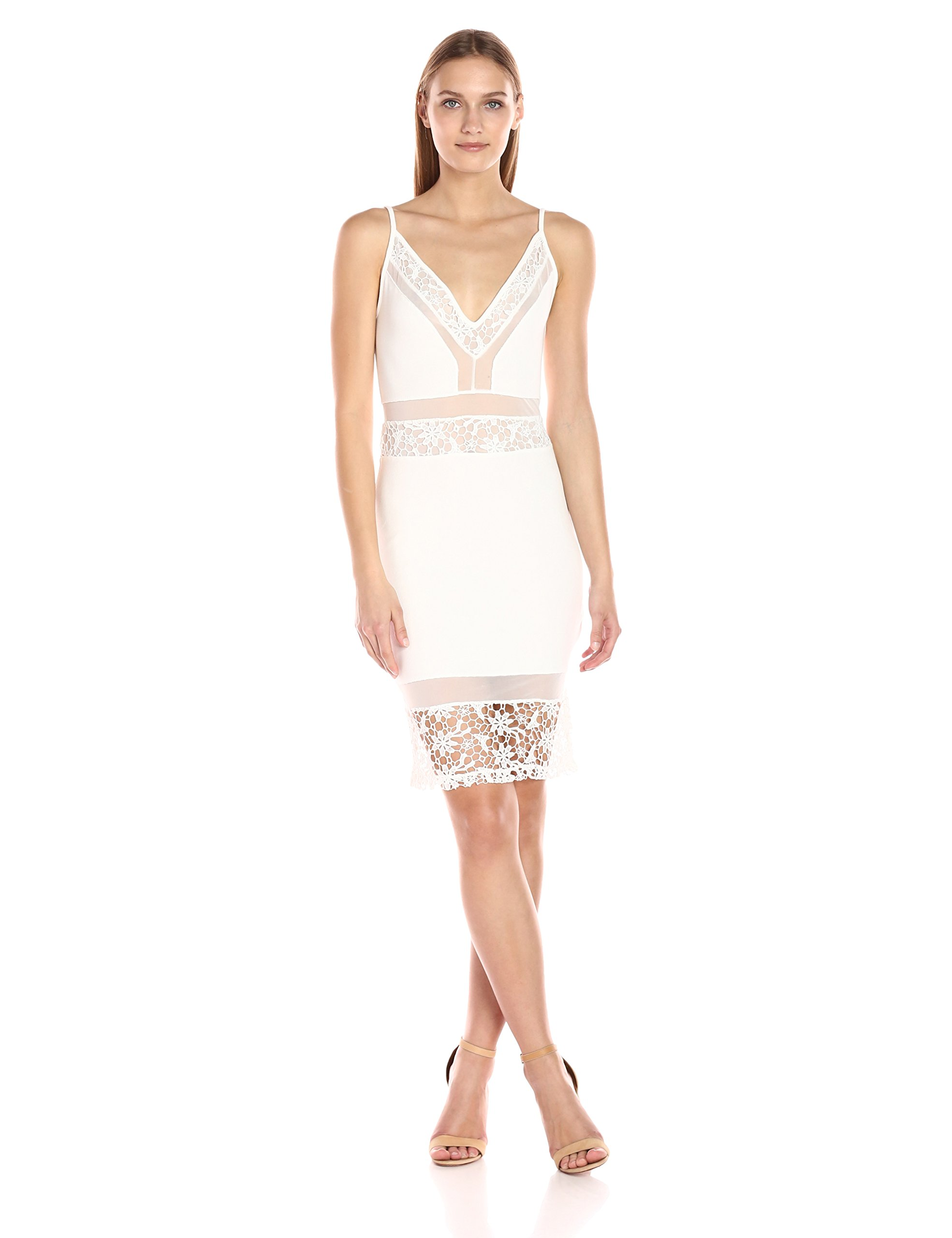 French Connection Women's noland Layer Jersey Dress, Summer White, 0