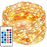 xtf2015 99ft/30m 300LEDs String Lights, Copper Wire Lights Dimmable Starry Lights with Remote Control for Bedroom, Patio, Garden, Yard, Wedding and Party, Warm White