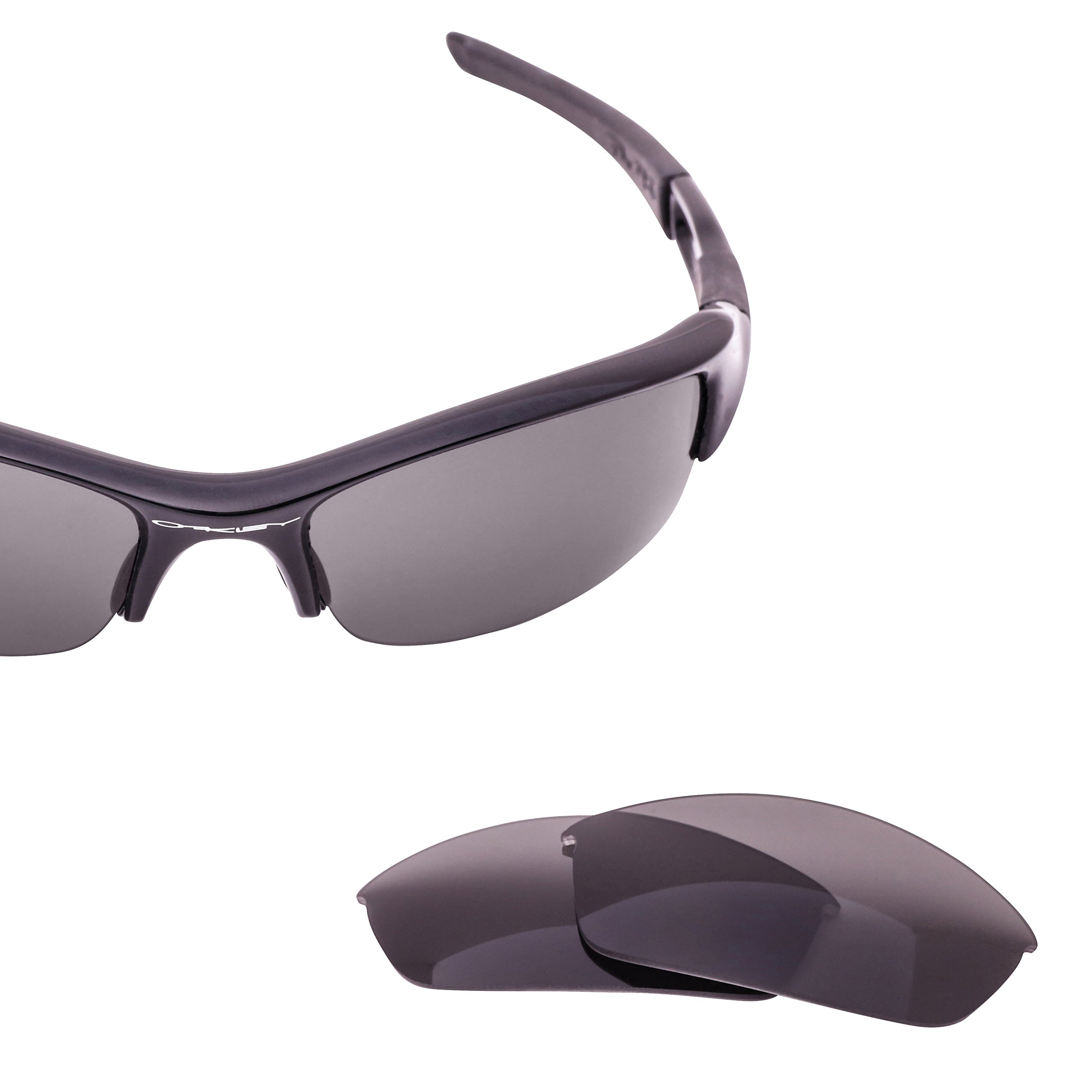 LenzFlip Replacement Lenses for Oakley FLAK JACKET Sunglass- Black Polarized Lenses