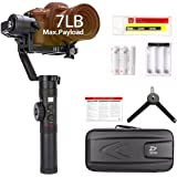 Zhiyun Crane 2 2017 Follow Focus 3-Axis Gimbal Stabilizer for DSLR Camera range from 1.1 lb to 7 lb OLED Display 18hrs Runtime 1Min Toolless Balance