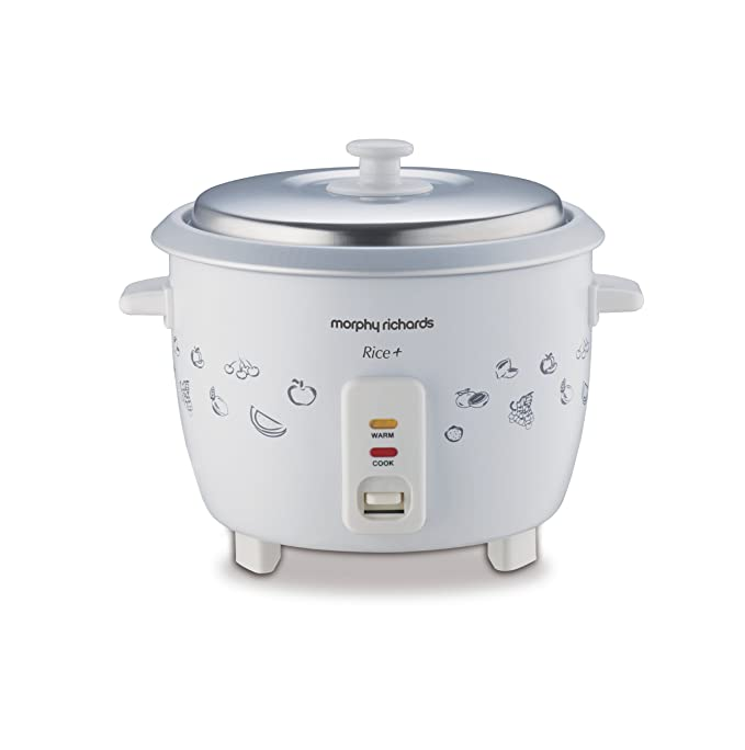 Morphy Richards Rice 1.8-Litre 700-Watt Electric Rice Cooker (Floral Design and White) Rice & Pasta Cookers at amazon