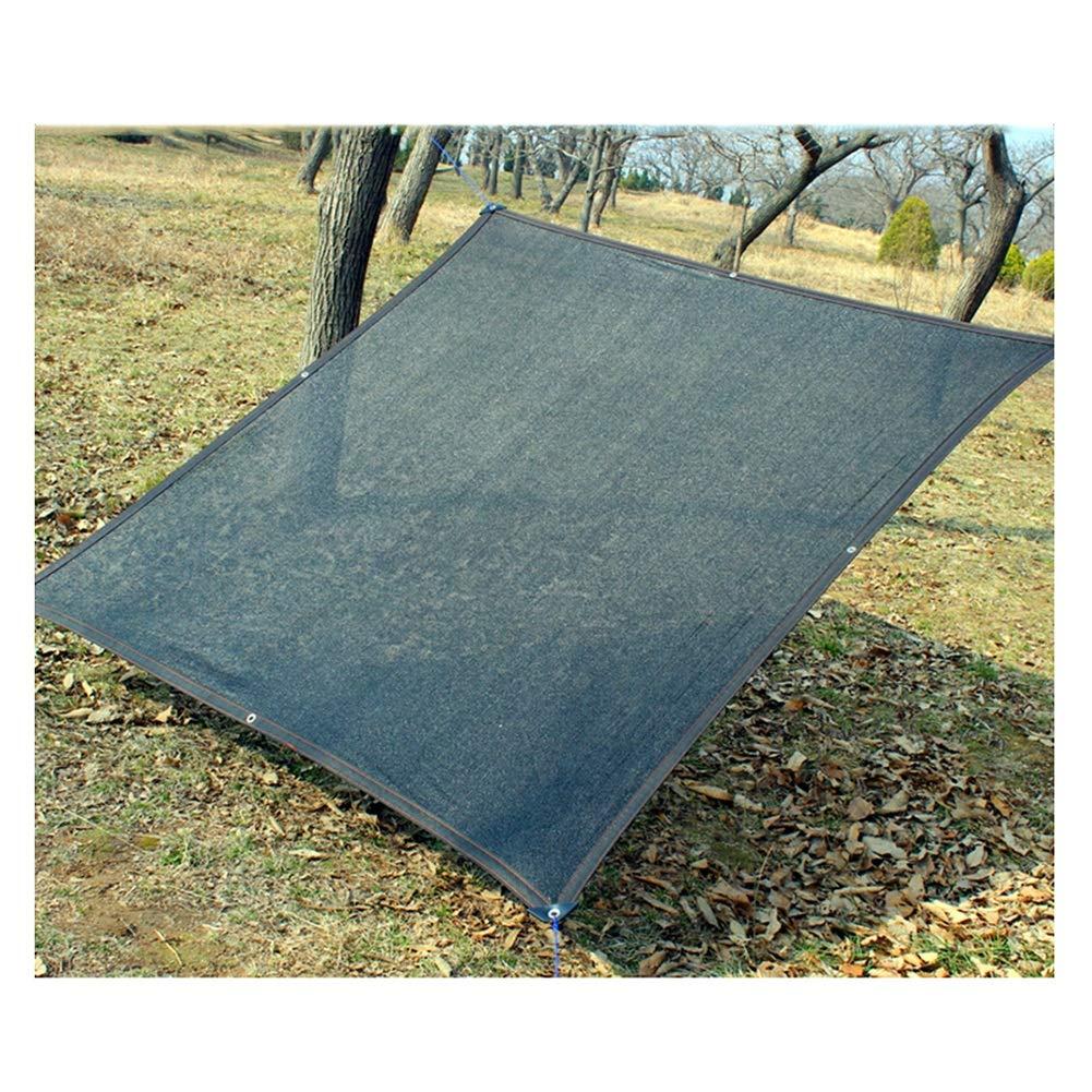 CHAOXIANG Rete Parasole Serre Antivento Avvolgere Il Bordo Buca Protezione Solare Termoisolante Balcone Terrazza Rete Ombreggiata, Multi-Dimensione, Personalizzabile (colore   Nero, Dimensioni   6x6m)