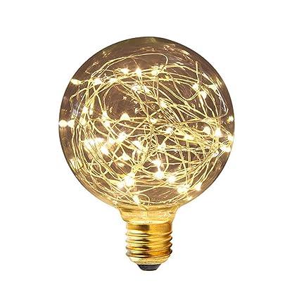 Lámpara LED Iluminación Bombilla, KINGCO G95 E27 3 W Globe Edison Lámpara Bombilla LED Vintage