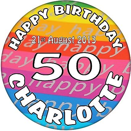 50th cumpleaños de personalizable Feliz cumpleaños ...