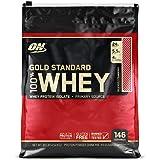 Optimum Nutrition Gold Standard Whey Eiweißpulver (mit Glutamin und Aminosäuren, Protein Shake von ON), Delicious Strawberry, 154 Portionen, 4.54kg