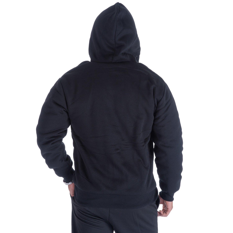 Gary Com Fleece Lined Hoodies for Men 1.8 lbs Full Zip Sherpa Plus Size Sweatshirt Mens Jackets Heavyweight Outwear (4XL, Black) by Gary Com (Image #2)