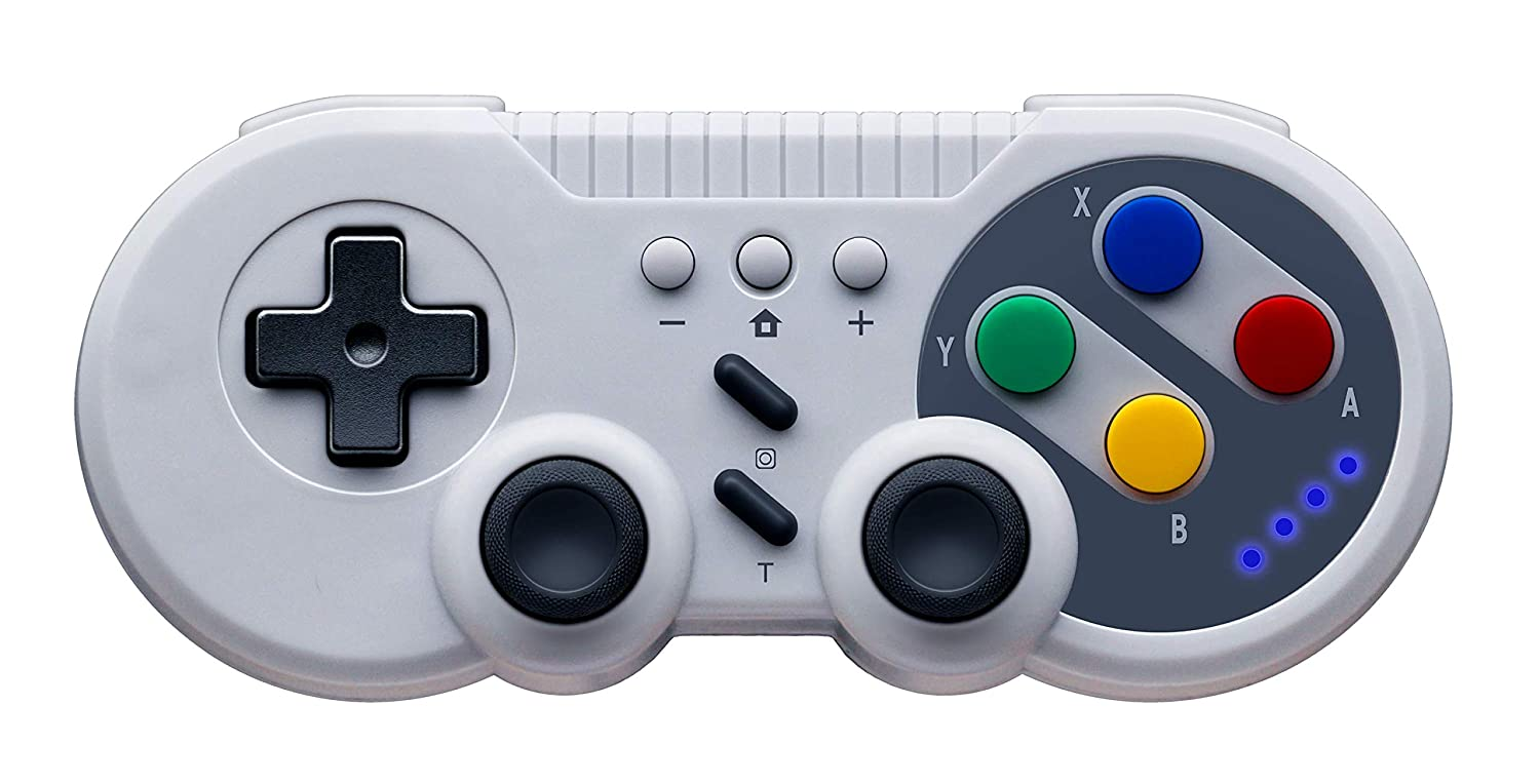 Poulep Wireless Pro Controller for Nintendo Switch - Classic SNES Style