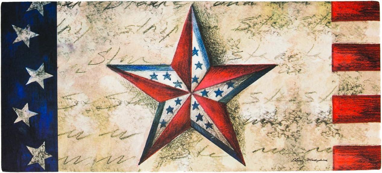 """Sassafras Switch Mat Stars on Star 22/""""x10/"""" Evergreen Enterprises Door Mat"""