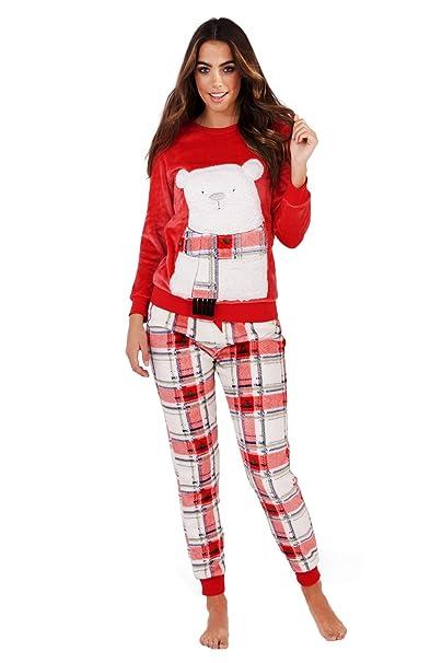 Loungeable - Pijama - Relaxed - Animal Print - Cuello Redondo - Manga Larga - para