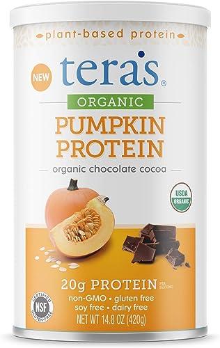 teraswhey Organic Pumpkin Protein, Chocolate Cocoa, 14.8 oz