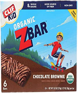 product image for Clif Bar Kid Z-Bar Organic, Chocolate Brownie 6 bars 7.62 oz/216g, 1.27 oz/36g per bar