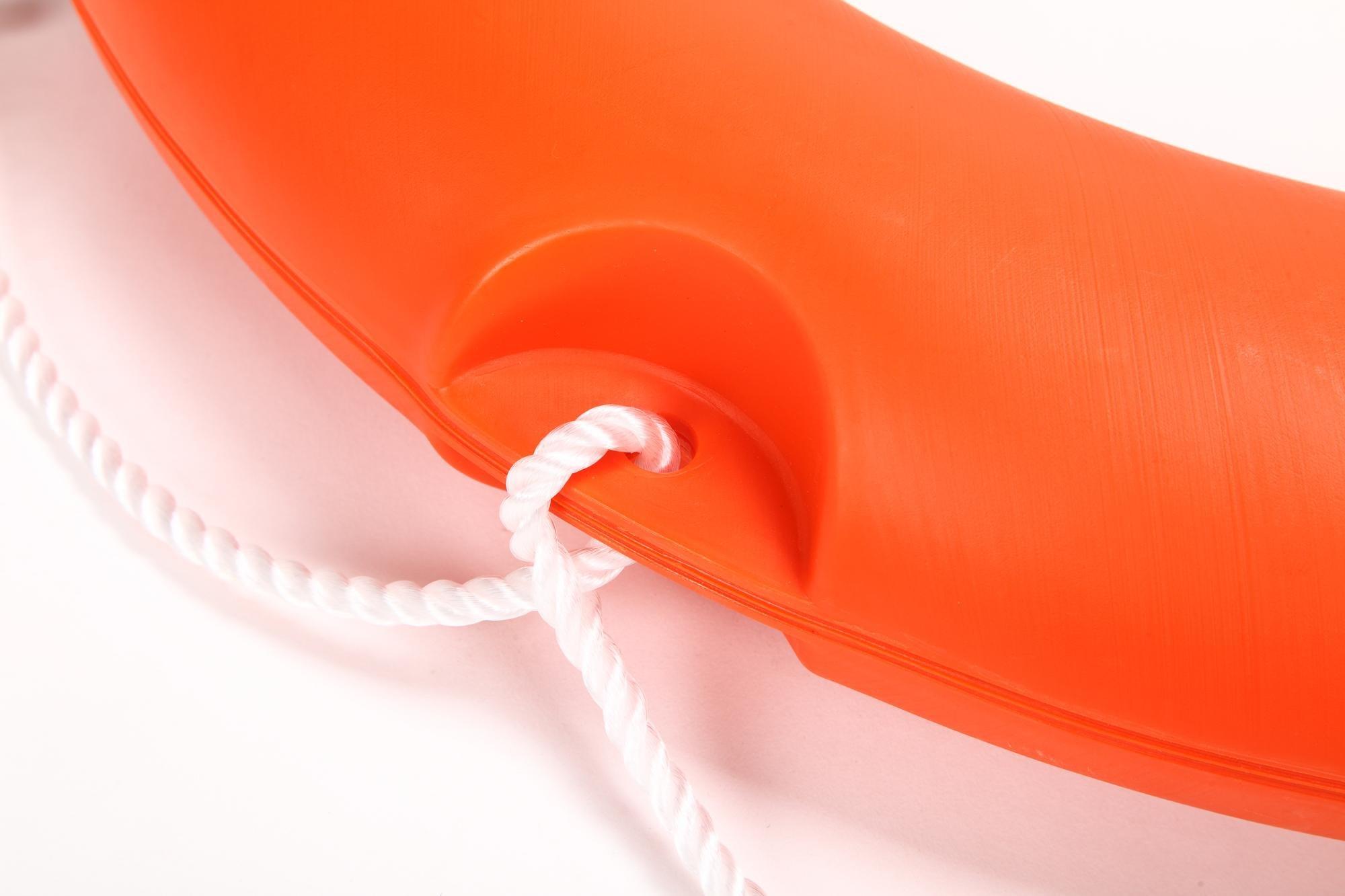 BeautySu. 28'' Diameter Professional Adult Foam Swim Ring Buoy Orange Lifering with White Bands by BeautySu. (Image #8)