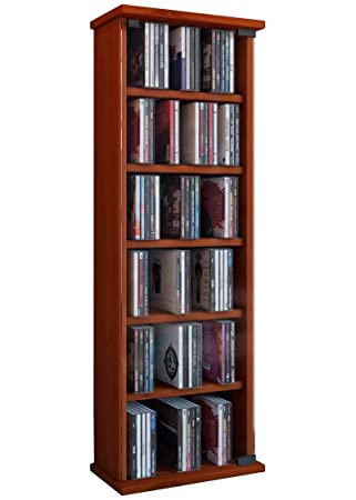 vcm shelf cabinet storage unit cd dvd media furniture stand tower rh amazon co uk cherry wood shelves for the wall