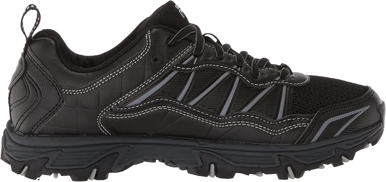 Fila Men's at Peake 20 Trail Running Shoe, Black/Metallic Silver Black/Black/Metallic Silver