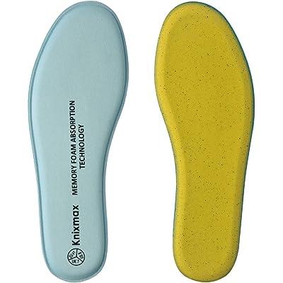 Knixmax Plantillas Memory Foam para Zapatos de Mujer y Hombre, Plantillas Confort Amortiguadoras Cómodas y Flexibles para Trabajo, Deportes, Caminar, Senderismo, 36-41EU