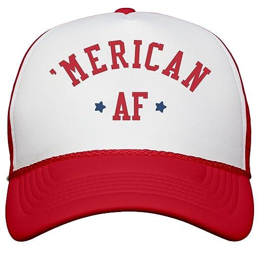 Amazon.com  American AF Star Snap Back  Snapback Trucker Hat White ... 94530bd173ed