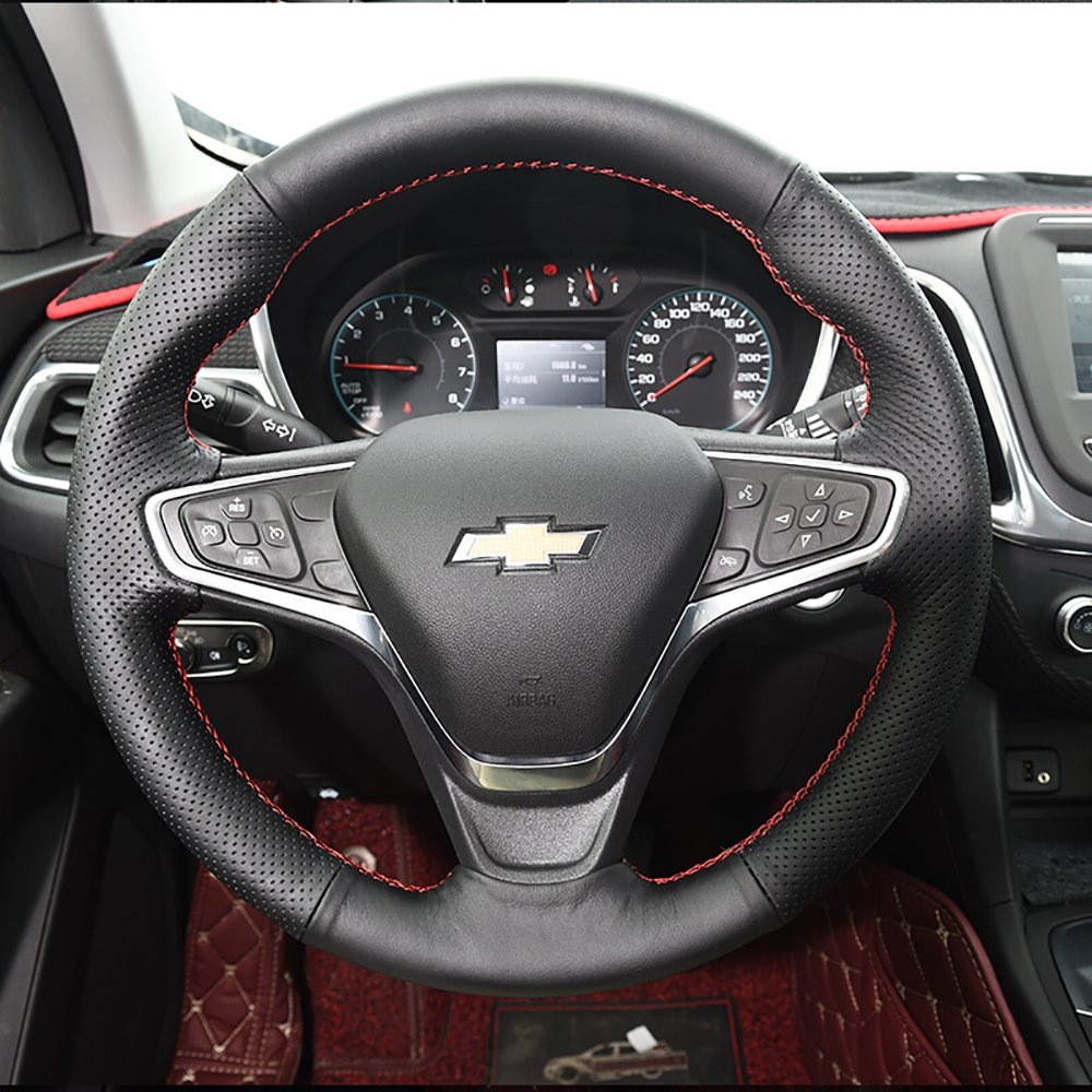 Kust Fxp4471w Chevrolet Steering Wheel Coverleather Cover Fit For Equinox 2018 Pack Of 1 Pce Custom Automotive Diy