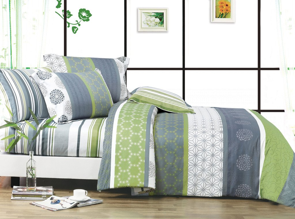 Swanson Beddings Serene 3-Piece 100% Cotton Bedding Set