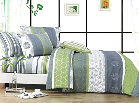 swanson beddings serene 3piece 100 cotton bedding set duvet cover and two