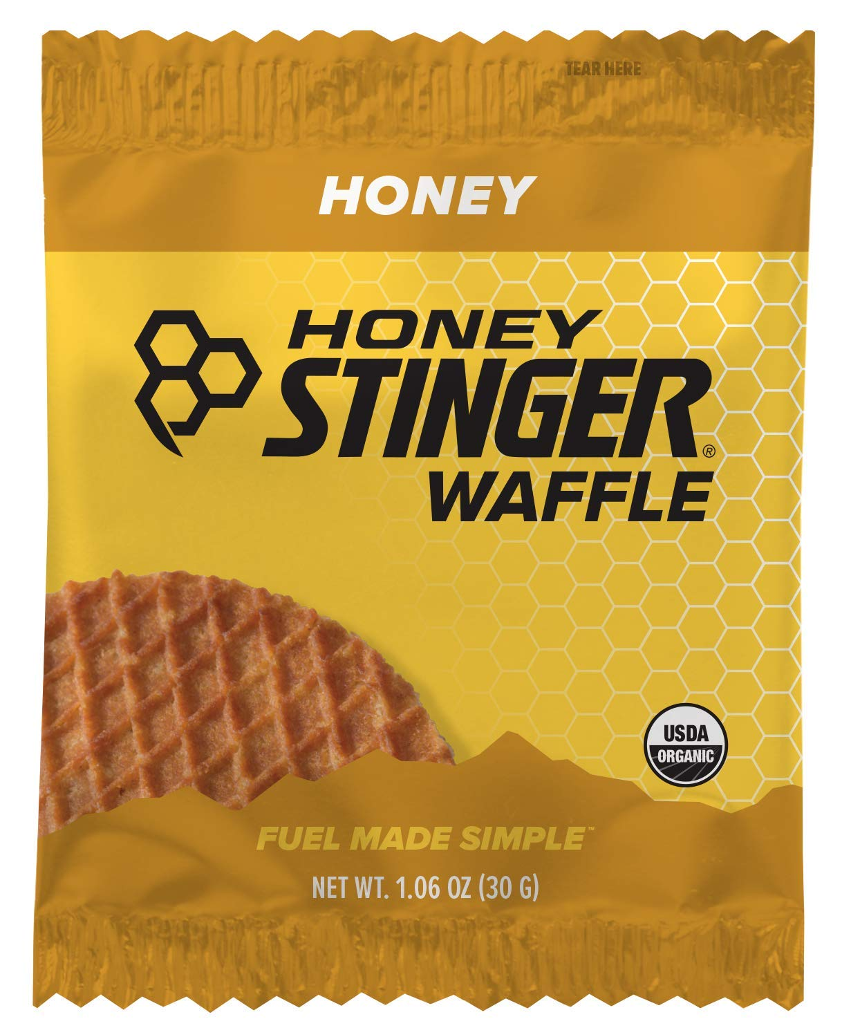 Honey Stinger Organic Waffle, Honey, Sports Nutrition, 1.06 Ounce (16 Count) by Honey Stinger