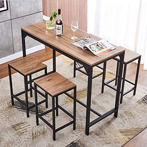 5-Piece Home Bar Table and Stool Set - the best dining room set for the money
