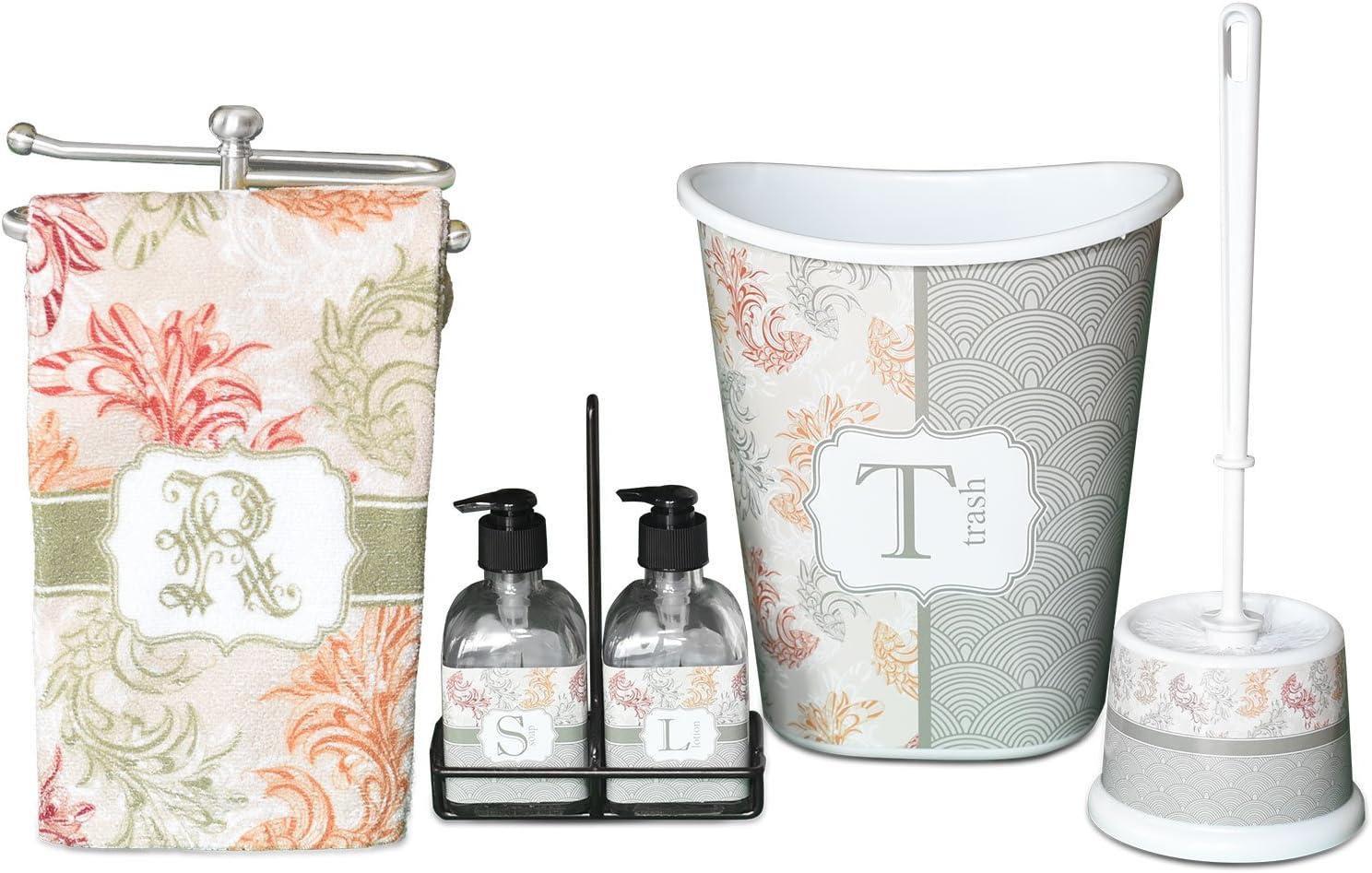 Amazon Com Rnk Shops Zebra Print Waste Basket Single Sided Black Personalized Home Kitchen