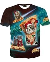 (ピゾフ)Pizoff メンズ Tシャツ 半袖 創意デザイン おもしろ 3Dプリント V系 カジュアル 男女兼用 トップス