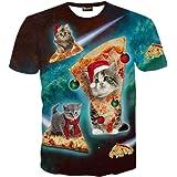 (ピゾフ) Pizoff メンズ Tシャツ 半袖 創意デザイン おもしろ 3Dプリント V系 カジュアル 男女兼用 トップス