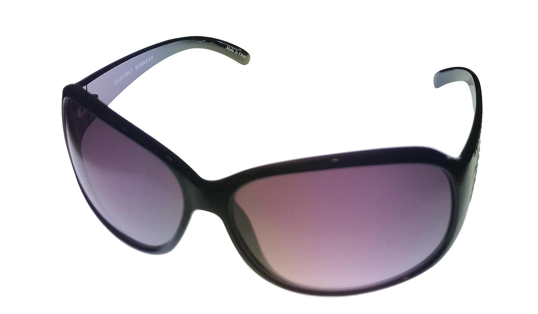b92e54c675 Amazon.com  Ellen Tracy Womens Rectangle Black Plastic Sunglass ET534 2   Clothing