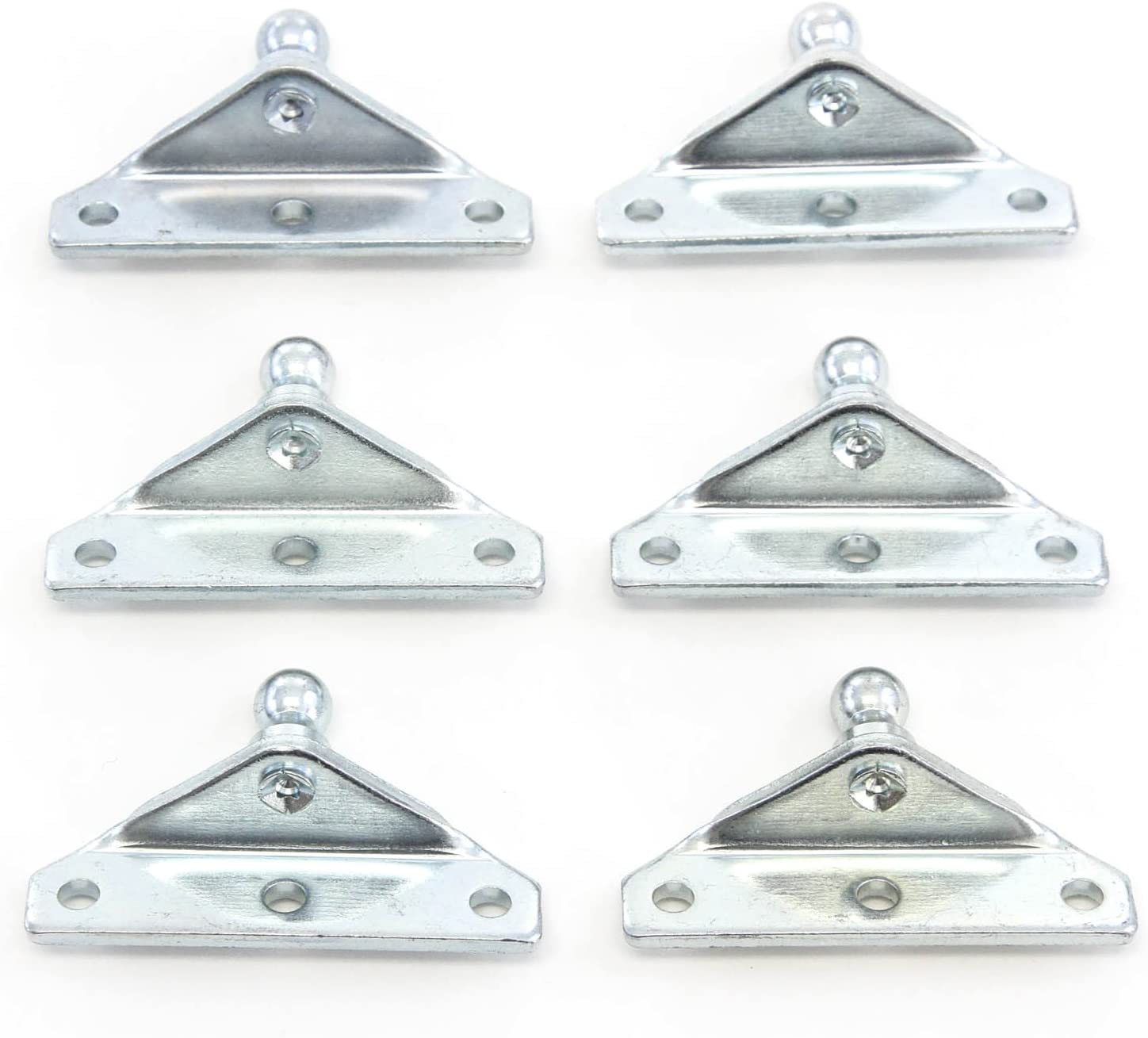 6 Ball Stud Brackets 10mm Compatible with Gas Prop Strut Spring Lift Coated Steel 10mm