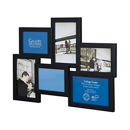 Amazon Pinnacle Dimensional Collage 6 Opening Black Frames