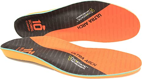 10 Seconds 3810 Ultra Support Insoles, M 9/9.5, W 10.5/11, 1 Pair