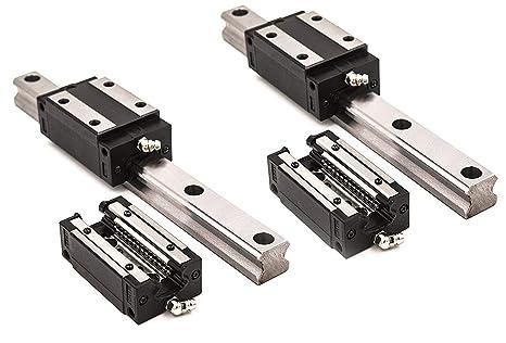 Joomen CNC SBR12-300mm LINEAR SLIDE GUIDE 2 RAIL 4 SBR12UU BEARING BLOCK