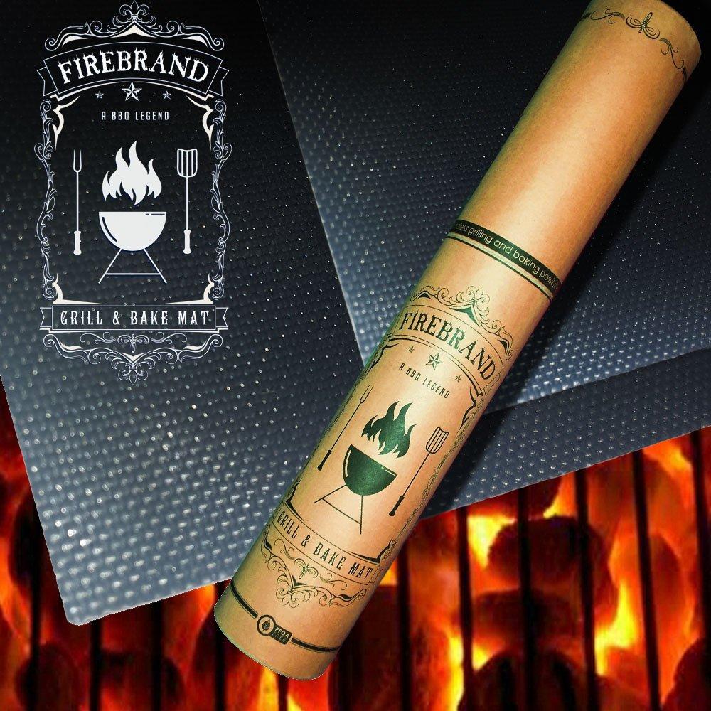 Firebrand antiadherente para barbacoa parrilla alfombrilla ...