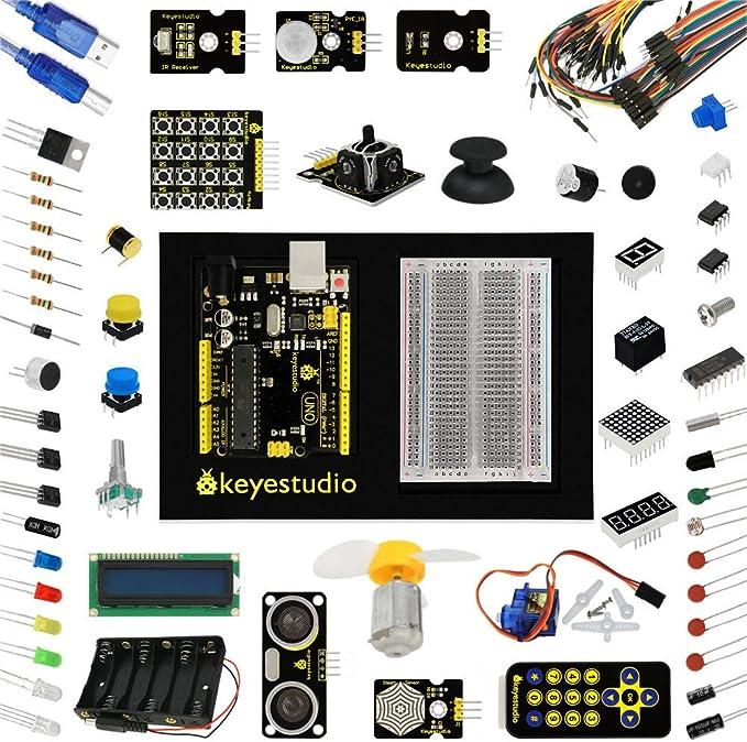 Uno Kit de iniciación para Arduino 1602LCD LED Servo Motor relé ...