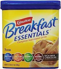 Carnation, Instant Breakfast Nutritional Drink, Rich Milk Chocolate, 17.7 Oz