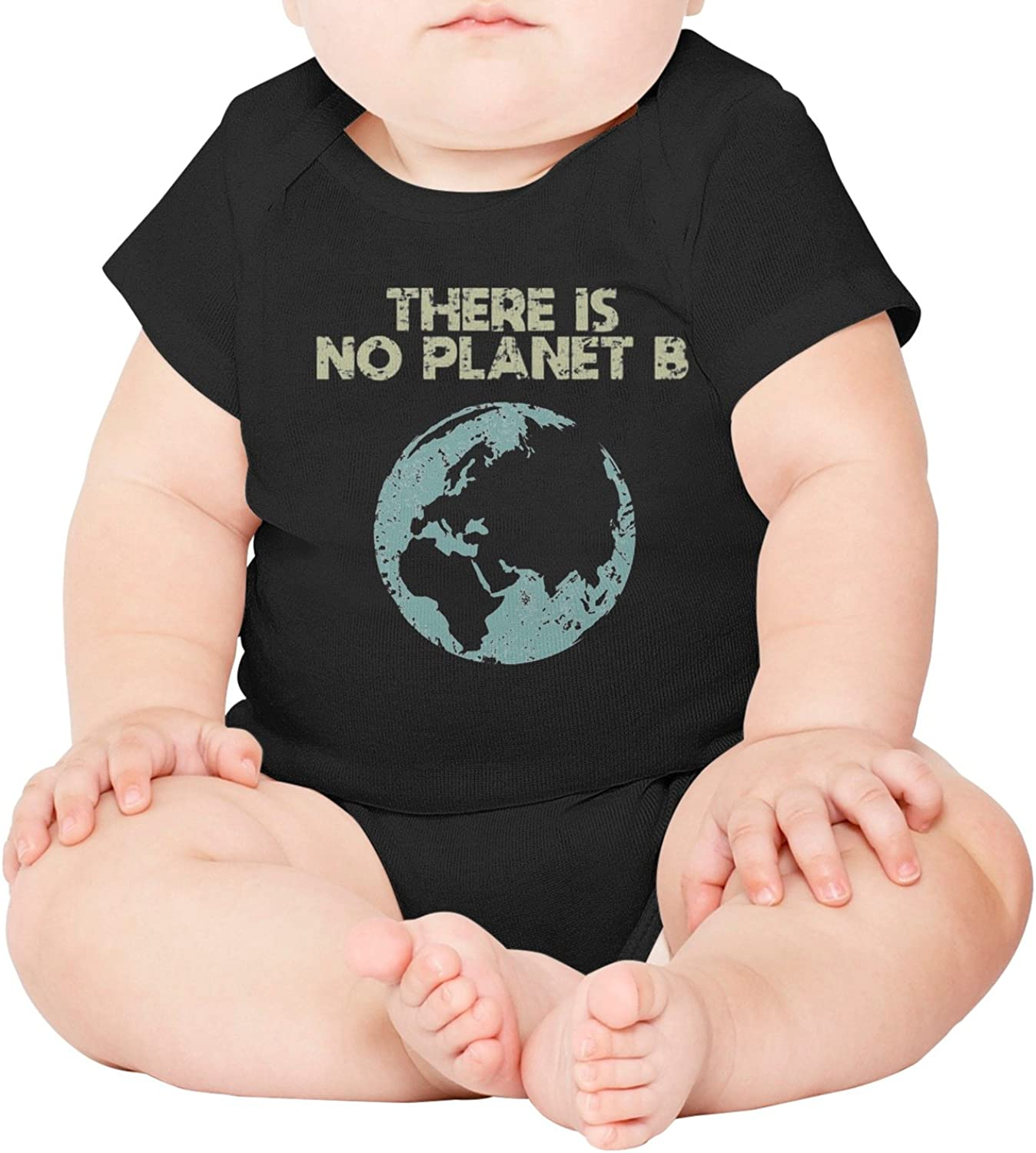 M2VIK9 Baby Romper Short Sleeve Clothes Jumpsuit Earth Day There is No Planet B Bodysuit Playsuit Outfits