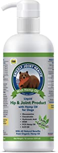 Grizzly All-Natural Joint Health for Dogs, 16 Fl Oz - Made in USA, Enhanced with Hemp Oil, Extra Strength Liquid Hip and Joint Support