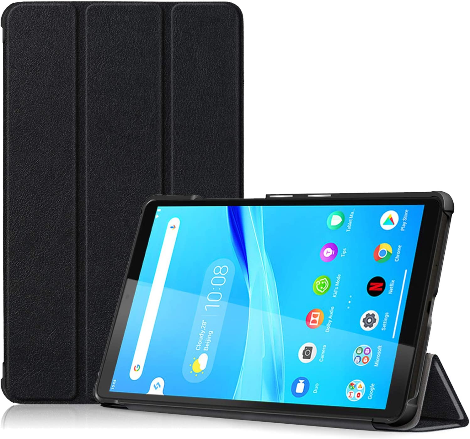 ProCase Lenovo Tab M8 Case 2019 TB-8505F TB-8505X, Slim Lightweight Stand Hard Shell Case Protective Cover for Lenovo Tab M8 HD (2nd Gen) TB-8505F / TB-8505X 2019 8.0 Inch Tablet –Black