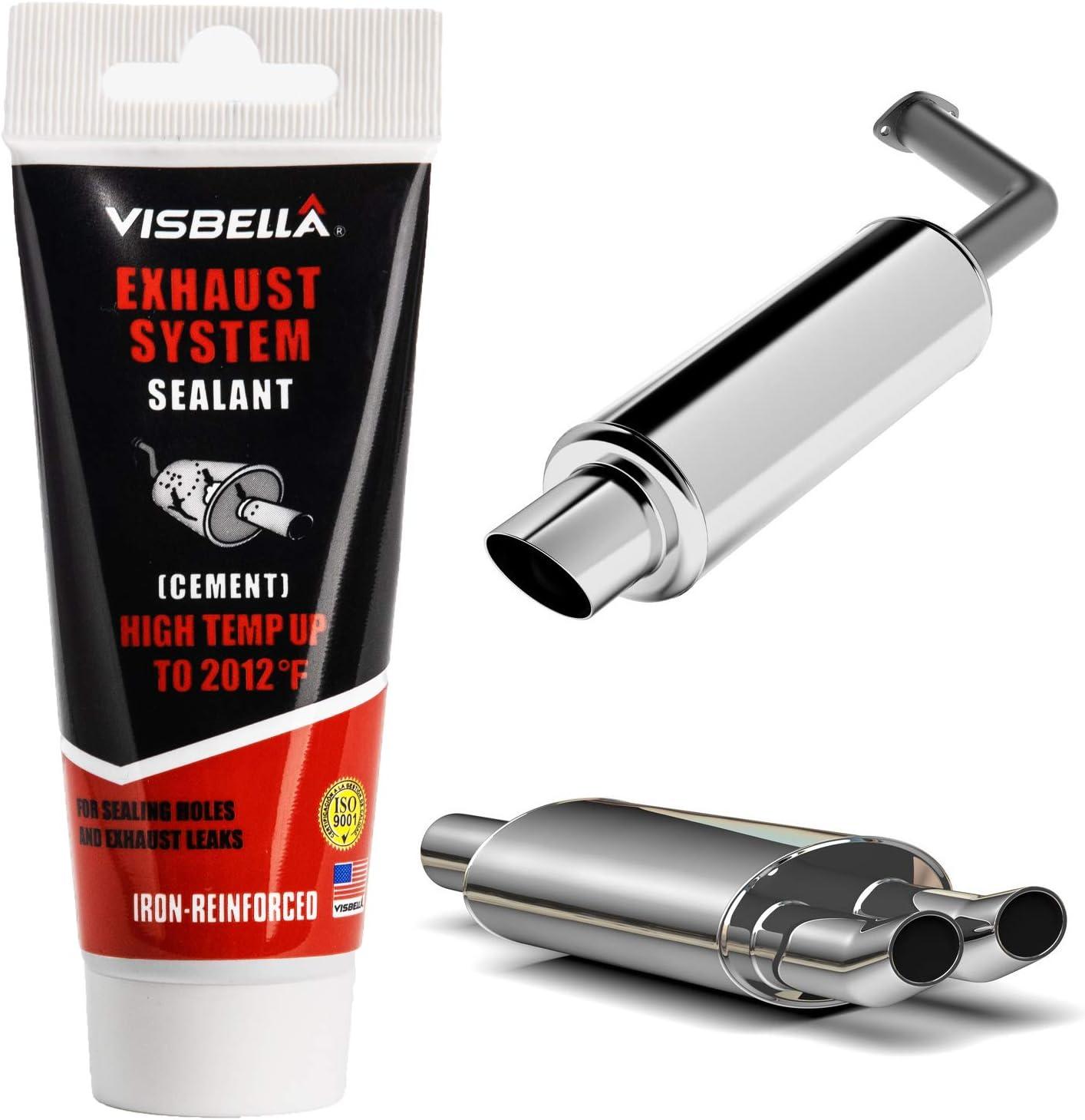 Visbella Exhaust System Pipe Repair Kit High Temperature Cement Crack Seal Tailpipe Muffler Repair Adhesive Auto