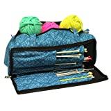 Knitting Bag, Sewing Accessories and Craft Needle Storage Organiser Case In Imperial Teal