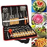 Agile-shop 80pcs/Set Portable Vegetable Fruit Food Wood Box Peeling Carving Tools Kit Pack
