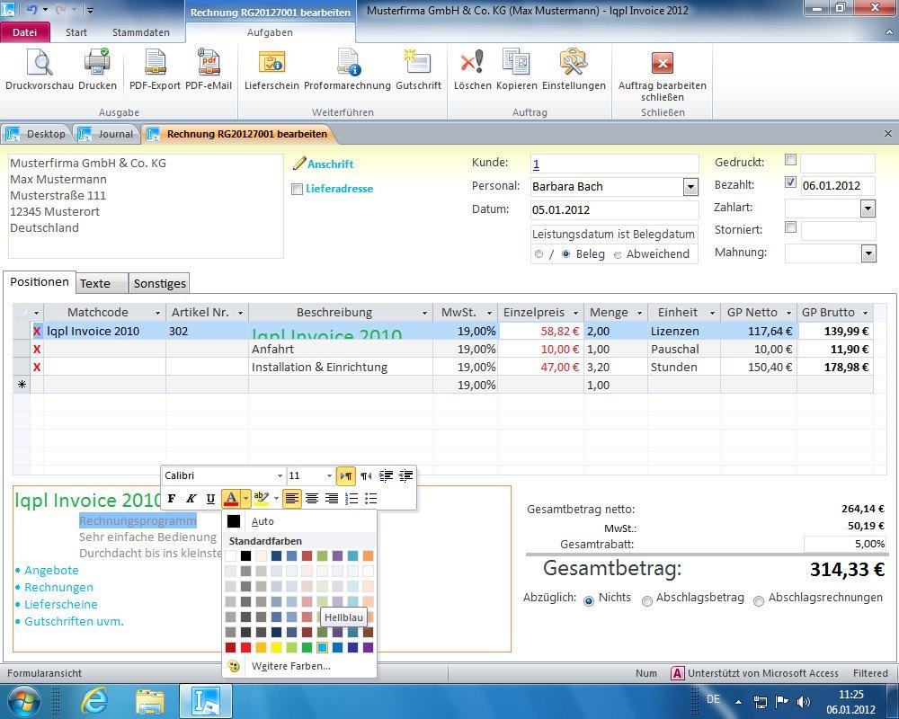 Lqpl Invoice 2012 Rechnungsprogramm Angebote Rechnungen
