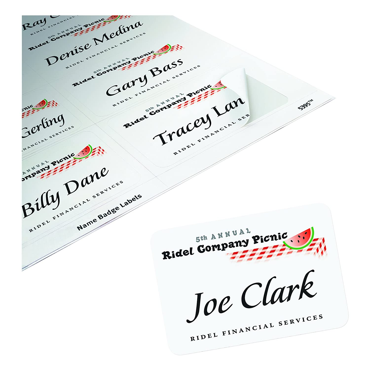 avery adhesive name badges 2 33 x 3 38 inches white