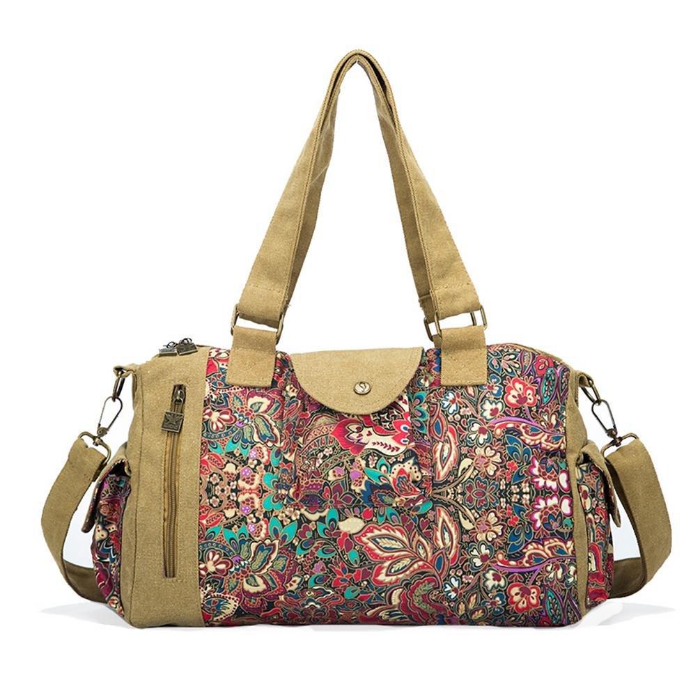 BLACK BUTTERFLY Women canvas printing large handbag Messenger bag shoulder bag