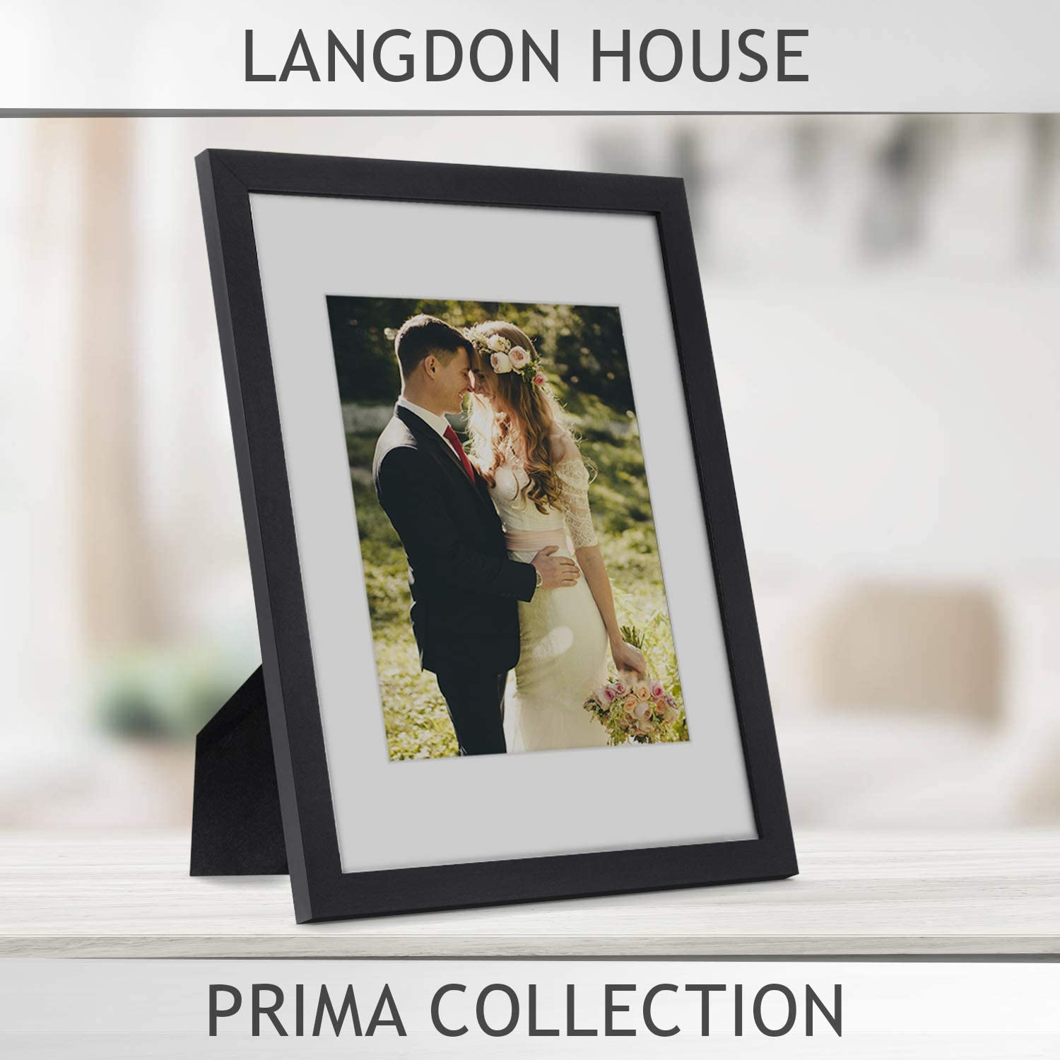 Langdon House 11x14 Frame Black 1 Pack 11 X 14 Photo Frame With Mat For 5x7 Picture Sturdy Wood Composite Wall Mount Hooks Included With Black Picture Frames Prima Collection Www Hapoelb7 Co Il