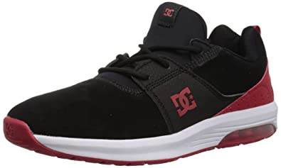 DC Men s Heathrow IA Skate Shoe Black Athletic Red 8 ... 5e4678d419